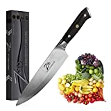 Zelite Infinity Chef Knife 8 Inch, Damascus Japanese AUS-10 Super Stainless Steel Blade Lasts a Lifetime, Sharpest Professional Chefs Knife For Cooking, Gyuto Made for Home Cook or Restaurant Kitchen
