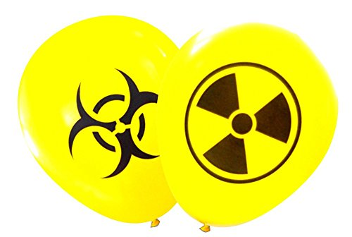 Mad Scientist Game For Halloween (Nerdy Words Radioactive and Biohazard Latex Balloons (16 pcs))