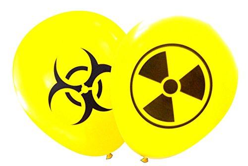Nerdy Words Radioactive and Biohazard Latex Balloons (16 pcs) -
