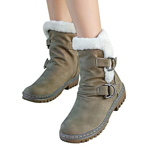 Fourrure Bottes Boucle Short Ningsanjin De Boots Neige Chaussures Femmes Casual Chaudes Bootie Dames Armée Chaud Vert Classiques vnAwFqd0