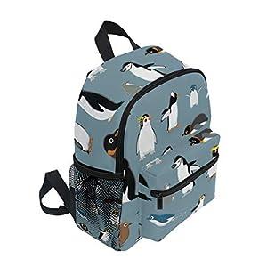 BALII Cartoon Penguins Toddler Backpack Book Bag School Rucksack for Girl Boy Children