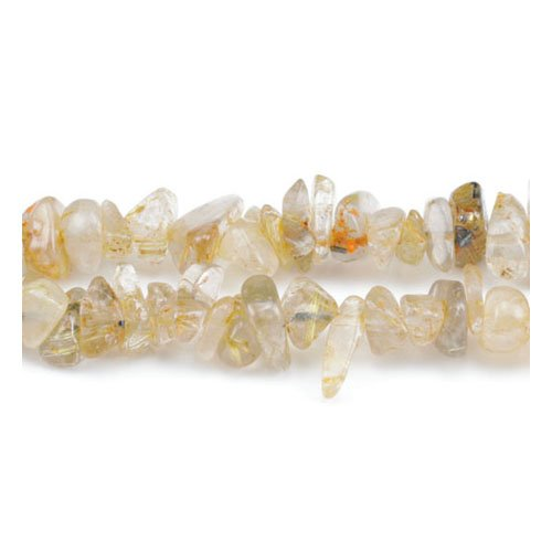 Long Strand 240+ Golden Rutilated Quartz 5-8mm Chip Handcut Beads GS3143 (Charming Beads)