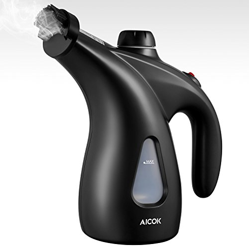 Garment Steamer, 200ml Portable Handheld Fabric Steamer, Aicok 4-1 Wrinkle Remover/Clean/Sanitize/Sterilize/ Perfect for Home and Travel with Pouch and Brush