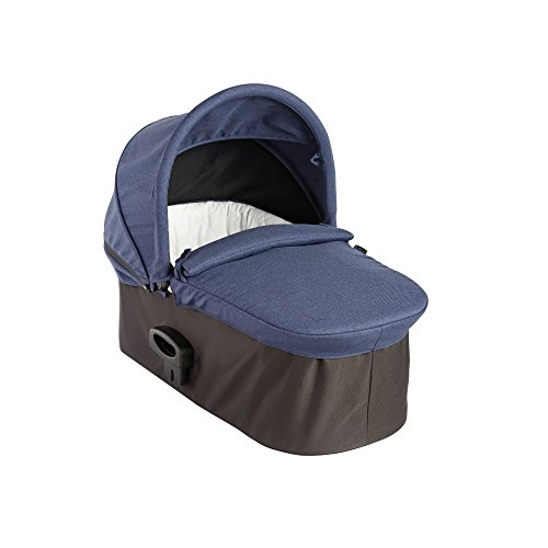 Baby Jogger City Premier Deluxe Bassinet for Stroller | Baby Pram Compatible with Most Baby Jogger Single Strollers | for Infants up to 25 lb, Indigo