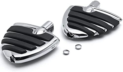 Krator Tombstone Motorcycle Foot Peg Footrests Chrome L/&R For Suzuki M109R All Models 2006-2013 Front