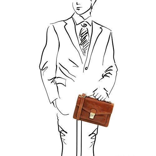 Bolso para Leather Tuscany hombre Miel Eric Miel en piel TL141443 AqSgw