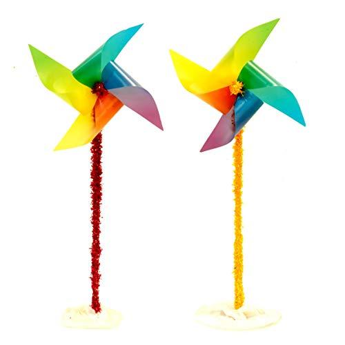 TCDesignerProducts Rainbow Pinwheels Parade Float Kit, Pride Parade Decorating Kit ()