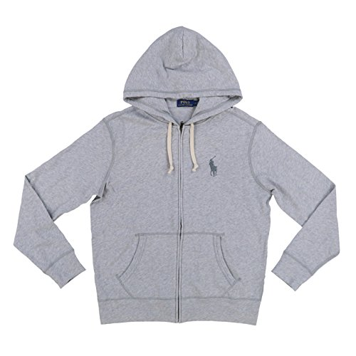 - Polo Ralph Lauren Mens Terry Cloth Hoodie (S, Grey Heather)