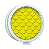Tovolo 81-15111 Classic Print, Templates Reverse, Dishwasher Safe, Set of 6 Cookie Cutters 1 Yellow