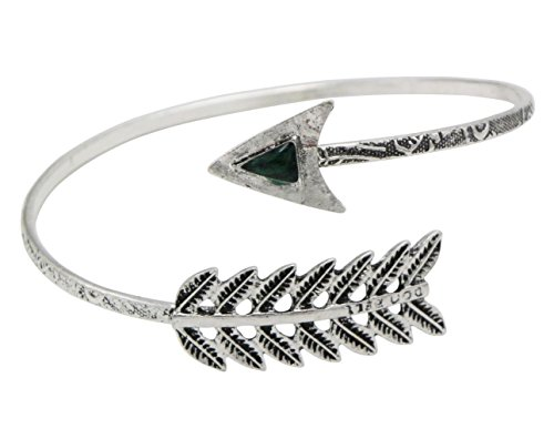 Rosemarie Collections Women's Boho Arrow Wrap Arm Cuff Armband (Silver Color) (Arm Band Jewelry)
