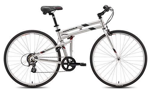 New Montague Crosstown Folding 700c Pavement Hybrid Bike Boulder Gray 19