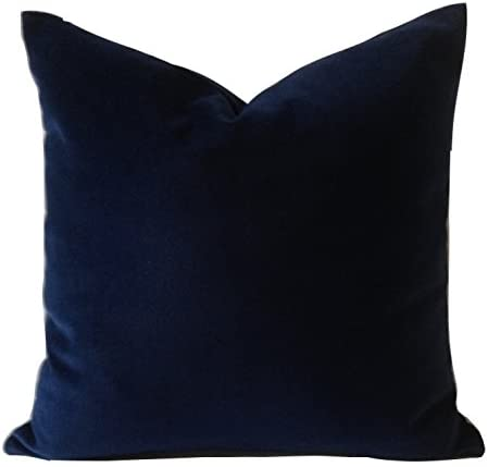 Amazon.com: Nora Quinonez Navy Blue Decorative Velvet Throw Pillow