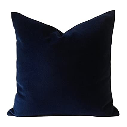Peachy Navy Blue Decorative Velvet Throw Pillow Cover Medium Weight Cotton Velvet Invisible Zipper Closure Insert Pillow No Included Navy Blue 20X20 Theyellowbook Wood Chair Design Ideas Theyellowbookinfo