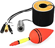 Decoe 1200TVL Underwater Fishing Camera 12 LEDs Waterproof Fish Shape Boat Ice Fishing Camera Accessories with
