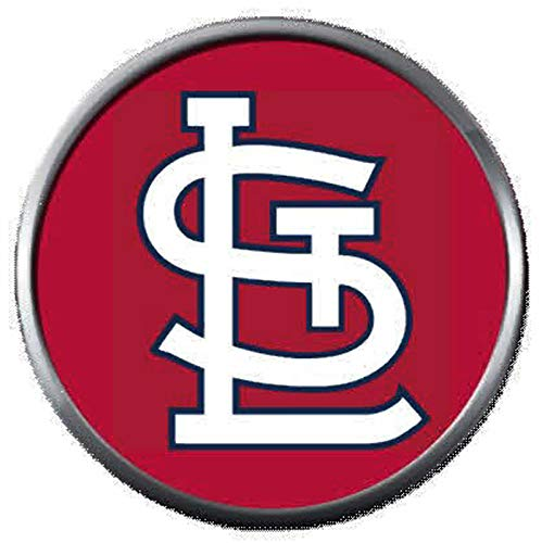 (STL MLB St Louis Cardinals Baseball Red Logo 18MM - 20MM Snap Jewelry Charm)