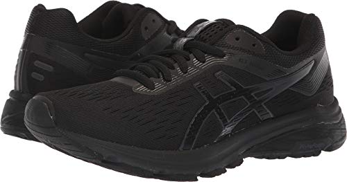 ASICS 1012A030 Women's GT-1000 7 Running Shoe, Black/Phantom, 8.5 M US