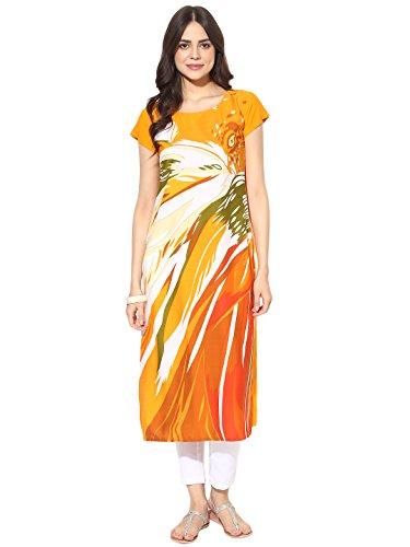 Printed Salwar (Vaamsi Crepe Digital Printed Kurti(PK1384A_Yellow_XXL))