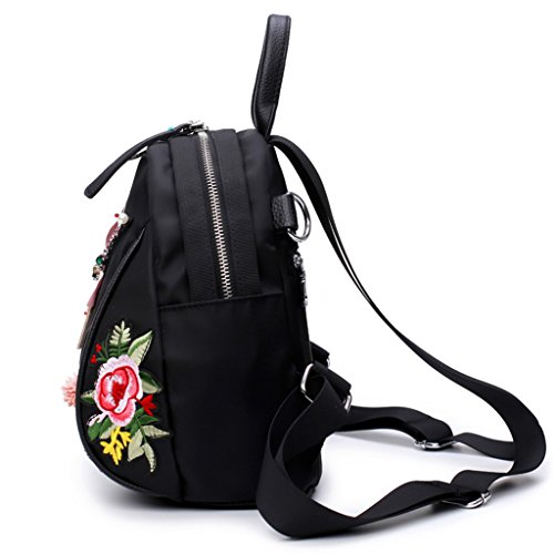 Backpack Backpack School Cross Student Embroidered Handbag Flowers Girls Bag Dragonfly body Kimruida Women x0Ptxw7