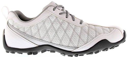 FootJoy Superlites Womens Golf Shoes 98819 White/Silver Ladies