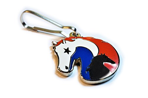Horse Equestrian Equine USA Patriotic Flag America Jacket Backpack Purse Charm Zipper Pull Clip
