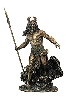 Oceanus – Ruler of The Oceans with Spear Nautical Statue Sculpture Figure