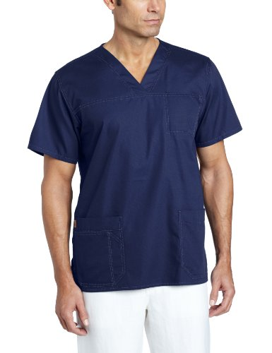 Pocket Scrub Top (Carhartt Men's Ripstop Multi Pocket Scrub Top, Navy, Small)