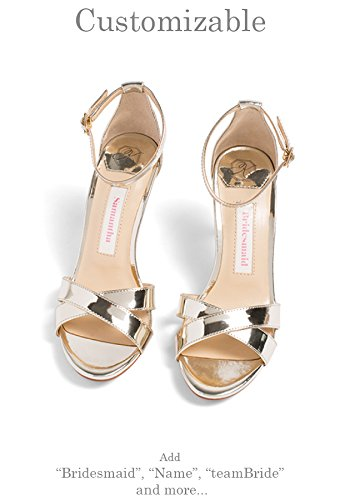 """Bridesmaid Shoes -""""Patent-Pending"""" - Style Liz in Gold by Kate Whitcomb Shoes"""