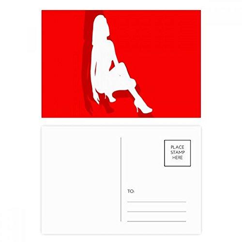 High-Heeled Shoe Women Postcard Set Birthday Thanks Card Mailing Side 20pcs by DIYthinker
