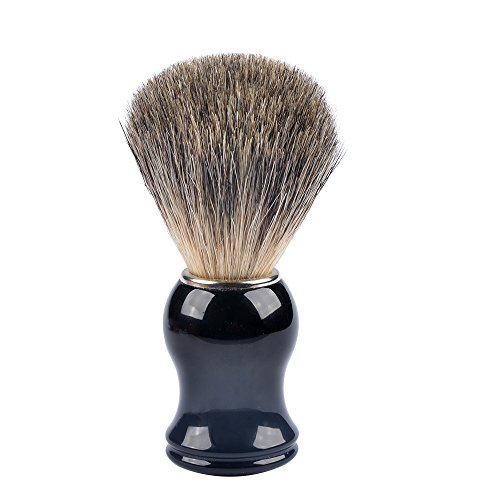 Pure Badger Shaving Brush, Alotpower Men Shaving Brush Black Handle Designed for the Best Shave of Your Life, Black