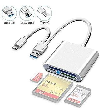 SwiftLand Lector de tarjetas USB C SD / Micro SD / TF / CF ...