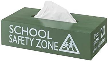 ティッシュケース ティッシュボックス ホルダー (グリーン) 木製 tissue box holder cover HT002798