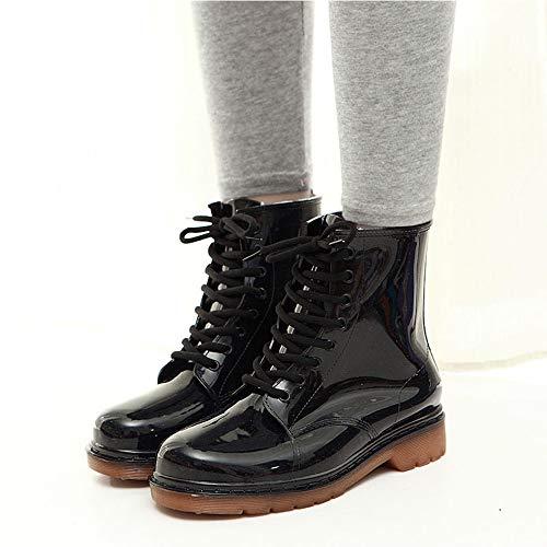 Equitazione Wellington Da Stivali Mini D Stivaletti Antiscivolo Gomma Balabala Di Per Boots Nero Pioggia Moda Donna nzq4wPTHq