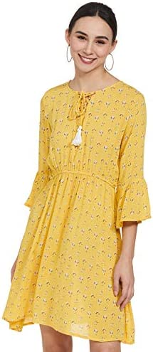 EASYBUY Rayon Fit and Flare Casual Dress