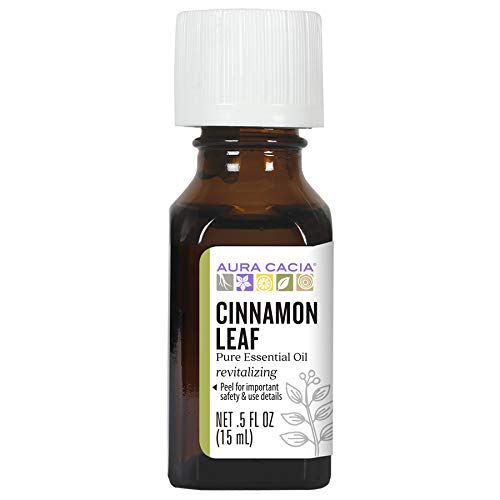 Aura Cacia Cinnamon Leaf Essential Oil GC MS Tested for Purity 15ml 0.5 fl. oz.