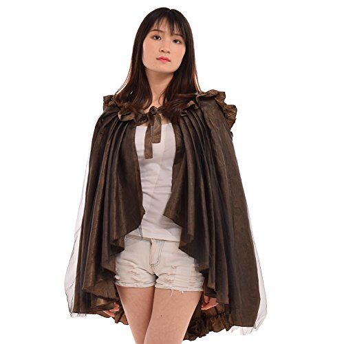 BLESSUME Victorian Ruffles Bustle Skirt/Cape,One size,Multi-colored -