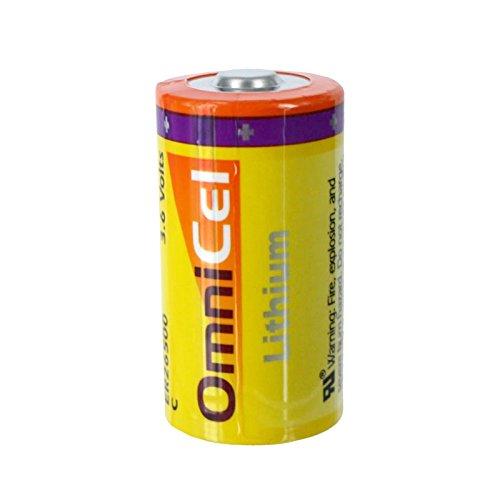 OmniCel ER26500 3.6V 8.5Ah Size C Standard Lithium High Energy Battery Replaces Tadiran TL-2200 TL-4920 TL-5920, Tekcell SB-C01 SB-C02, Xeno XL-145F by Exell Battery