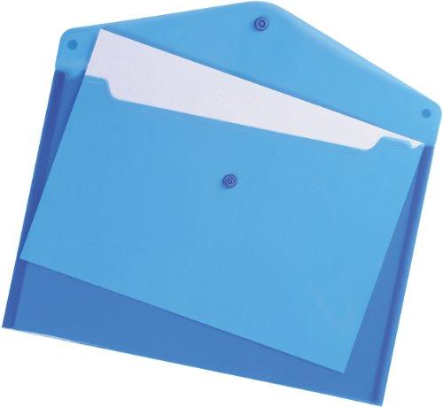 5 Star Envelope Wallet Polypropylene A4 Translucent Blue [Pack of 5]