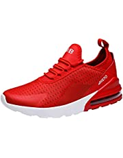 Men Mesh Lace-Up Athletic Shoes Flat Running Non-Slip Light Sport Sneakers