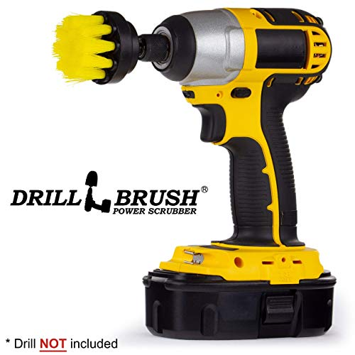 (Power Drill Attachment Scrub and Cleaning Brush for Cleaning Bathroom Surfaces, Tile and Grout, Hard Water Stains, Rust and Mineral Deposit Removal)