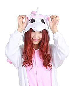 Unicornio rosa hombres adultos Unisex Pelele Kigurumi Cosplay ...