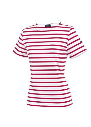Saint James Etrille - Streifenshirt - Bretagne-Shirts Neige/Tulipe