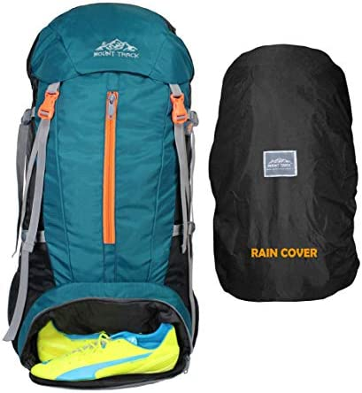 Mount Track Gear Up Rucksack, Hiking & Trekking Backpack 70 Ltrs with Rain Cover and Laptop Compartment (Teal)