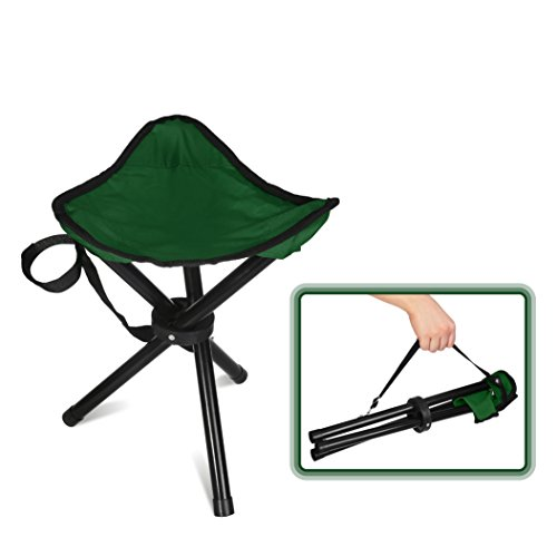 Forbidden Road Camping Stool Seat Tripod Stool Portable Folding Hiking Fishing Travel Backpacking Outdoor Stool 0.9lbs Lightweight Capacity 220lbs - Red Blue Green (Green & - Lb 200 Tripod