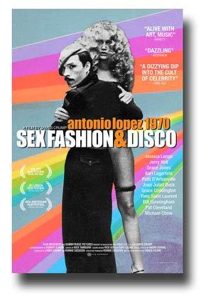 - Antonio Lopez 1970 Poster Movie Promo 11 x 17 inches Sex Fashion and Disco Rainbow