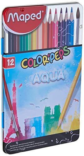 Lápis de Cor Color Peps Aquarelavel, Maped, Multicor, Pacote de 12