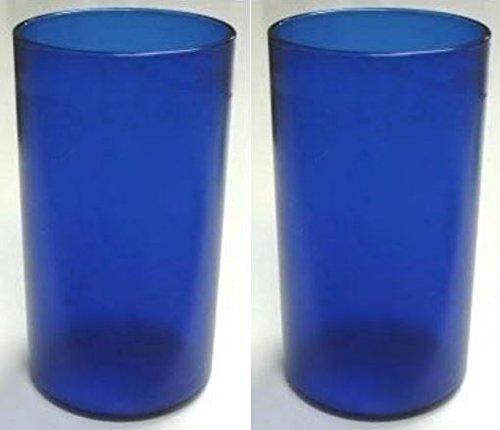 Bentley 20 oz. Set of 2 Tumblers Cobalt Blue - Shatterproof, Dishwasher Safe, BPA Free Colorware