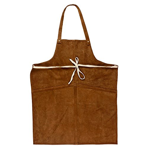 Rustic Town Genuine Leather Grill Work Apron with Tool Pockets ~ Adjustable up to XXL for Men & Women ~ Gift Ideas for Him Her (Tan) by Rustic Town (Image #8)