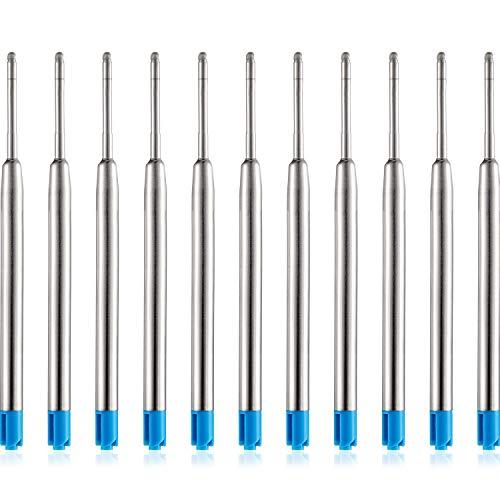Tatuo 30 Pack Replaceable Ballpoint Pen Refills Metal Refill Smooth Writing Ball Point Pen Refills (Blue)