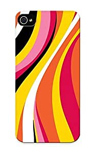 High Quality Standinmyside Colorful Waves Skin Case Cover Specially Designed For Iphone - 5/5s