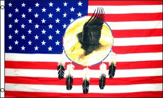 DREAMCATCHER EAGLE 3'x5' Native American flag Indian banner